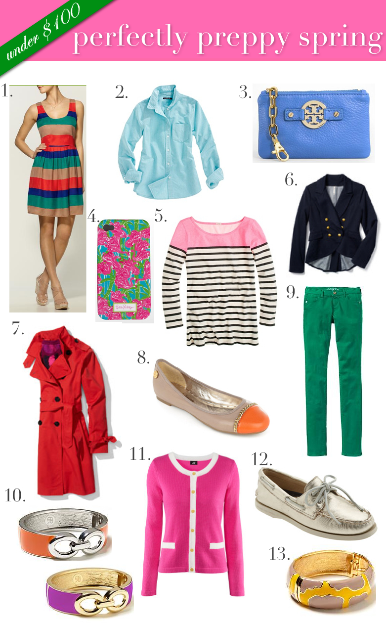 Spring Must Have Items: Under $100: Perfectly Preppy Spring Must Haves