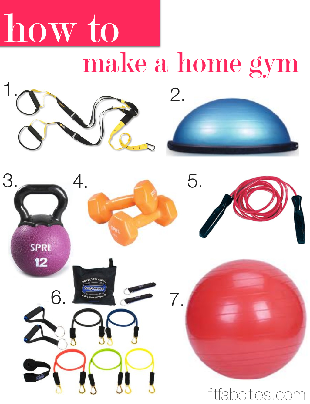 How to make a home gym… the best fitness accessories