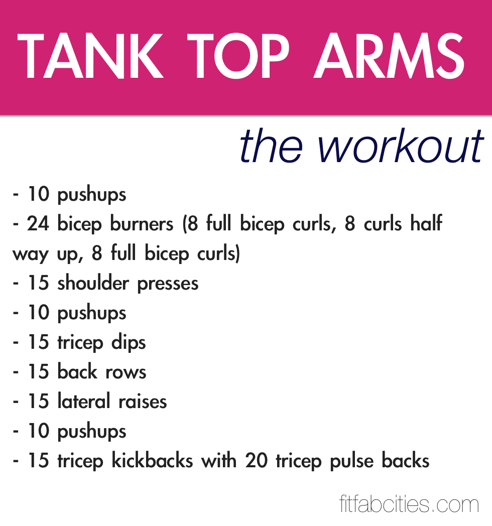 picture relating to Printable Arm Workouts called Printable Training: Tank Supreme Palms